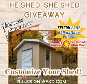 Win the He Shed She Shed Giveaway